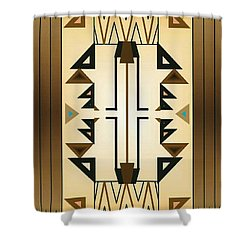 Egyptian Moderne Shower Curtain by Tara Hutton