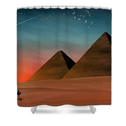Egyptian Pyramids Shower Curtain