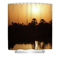 Shower Curtain featuring the photograph Egyptian Sunset by Silvia Bruno