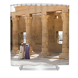 Shower Curtain featuring the photograph Egyptians by Silvia Bruno