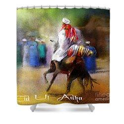 Eid Ul Adha Festivities Shower Curtain by Miki De Goodaboom