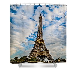 Shower Curtain featuring the photograph Eiffel Clouds by Kim Wilson