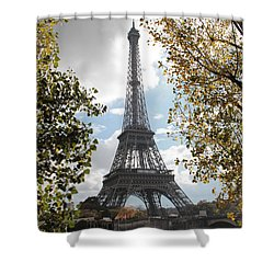 Shower Curtain featuring the photograph Eiffel From Avenue De New York by Christopher Kirby