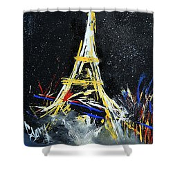 Shower Curtain featuring the painting Eiffel by Gary Smith