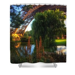 Shower Curtain featuring the photograph Eiffel by Marty Cobcroft
