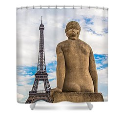 Shower Curtain featuring the photograph Eiffel Of U by Kim Wilson