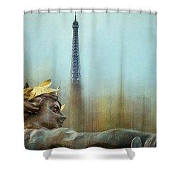 Eiffel Tower 1 Shower Curtain by Marty Garland