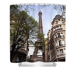 Shower Curtain featuring the photograph Eiffel Tower 2b by Andrew Fare