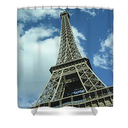 Shower Curtain featuring the photograph Eiffel Tower by Allen Sheffield