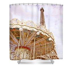 Shower Curtain featuring the photograph Eiffel Tower And Carousel by Ivy Ho
