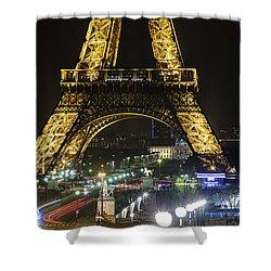 Eiffel Tower Shower Curtain by Andrew Soundarajan