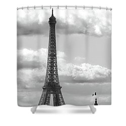 Eiffel Tower From Galeries Lafayette Rooftop Shower Curtain