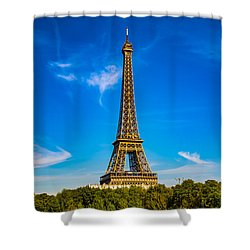 Shower Curtain featuring the photograph Eiffel Tower by Kim Wilson