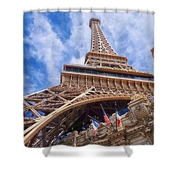 Eiffel Tower Las Vegas  Shower Curtain