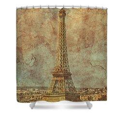 Paris, France - Eiffel Tower Shower Curtain