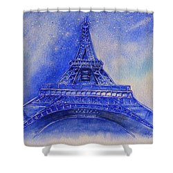 Eiffel Tower Nights Shower Curtain
