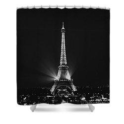 Eiffel Tower Noir Shower Curtain by Melanie Alexandra Price