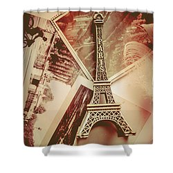 Eiffel Tower Old Romantic Stories In Ancient Paris Shower Curtain
