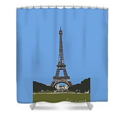 Eiffel Tower Shower Curtain by Roger Lighterness