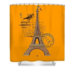Eiffel Tower T Shirt Design Shower Curtain