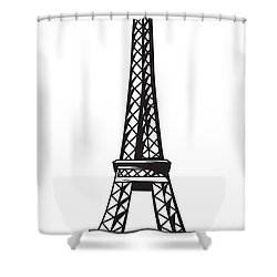 Eiffel Tower Up Shower Curtain by Stanley Mathis