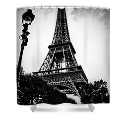 The Eiffel Tower With Vignetting Shower Curtain by Micah May
