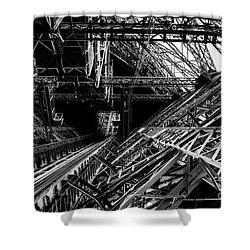 Eiffel Tower Shower Curtain by M G Whittingham