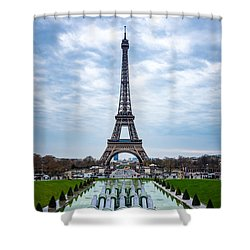 Eiffeltower From Trocadero Garden Shower Curtain