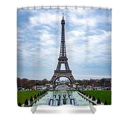 Eiffeltower From Trocadero Garden Shower Curtain