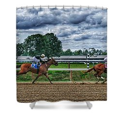 Eight Gaining Shower Curtain