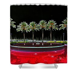 Eight Palms Drinking Wine Shower Curtain by David Lee Thompson