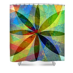 Shower Curtain featuring the painting Eight Petals by Michelle Calkins