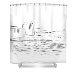 Eilean Donan Castle Digital Art Shower Curtain