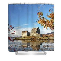 Eilean Donan In Autumn Shower Curtain
