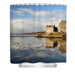 Eilean Donan - Loch Duich Reflection - Dornie Shower Curtain by Grant Glendinning