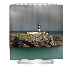 Eilean Glas Lighthouse Shower Curtain