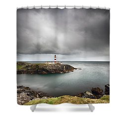 Eilean Glas Lighthouse, Scalpay Shower Curtain