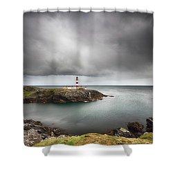 Eilean Glas Lighthouse, Scalpay Shower Curtain