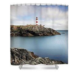 Eilean Glas Lighthouse Scotland Shower Curtain