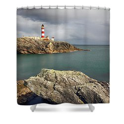 Eilean Glas Lighthouse, Western Isles. Shower Curtain