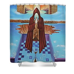 El Camino De La Luz Shower Curtain by Jorge L Martinez Camilleri