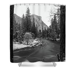 El Cap  Shower Curtain
