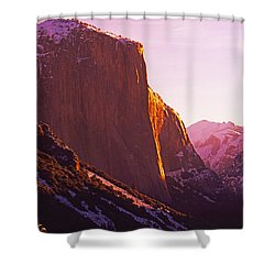 El Capitan And Half Dome, Yosemite N.p. Shower Curtain
