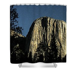 El Capitan By Starlight, Yosemite Valley, Yosemite Np, Ca Shower Curtain