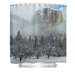 Shower Curtain featuring the photograph El Capitan Majesty - Yosemite Np by Sandra Bronstein