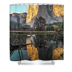 El Capitan Sunset Shower Curtain