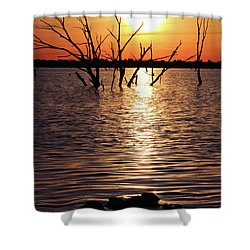 El Dorado Lake Morning Shower Curtain