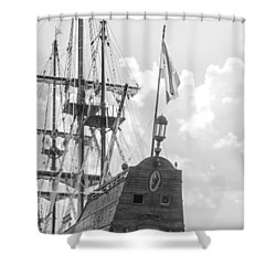 Shower Curtain featuring the photograph El Galeon by Bob Decker