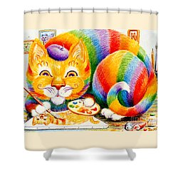el Gato Artisto Shower Curtain