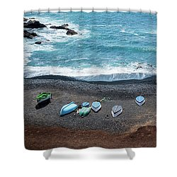 Shower Curtain featuring the photograph El Golfo by Delphimages Photo Creations